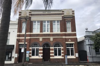 This former Temperance Hall is now apartments with a wine cellar