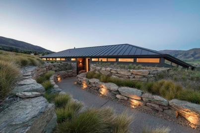 Almost buried in the earth, this home is architectural gold