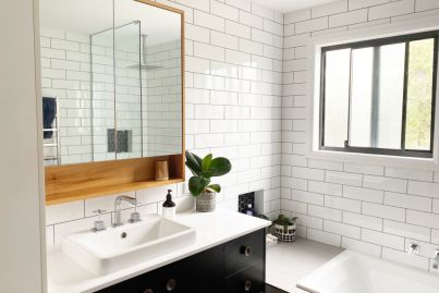How we renovated two bathrooms for under $20,000