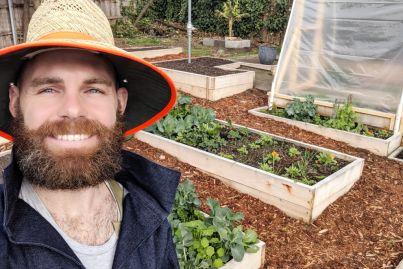 How Dusty Moore turned his 'barren' Hobart backyard into a suburban farm
