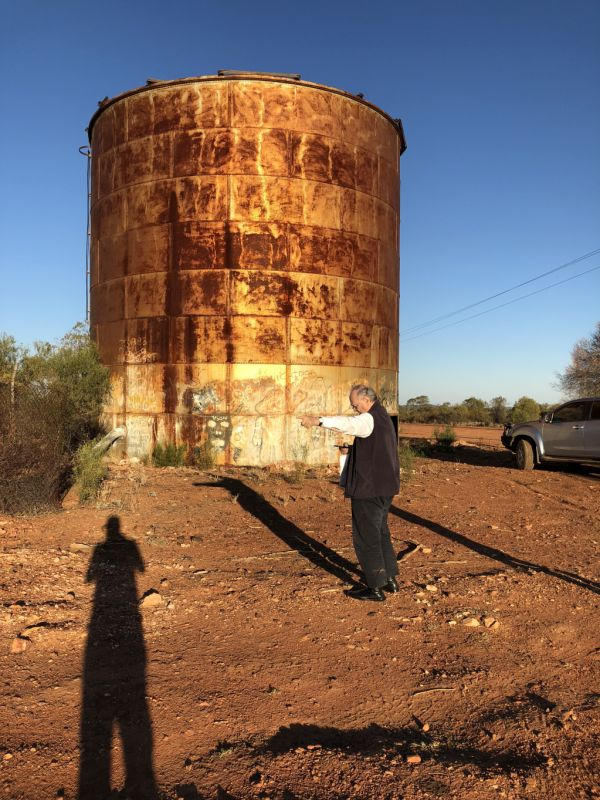 The composer, the architect and the water tank in Cobar