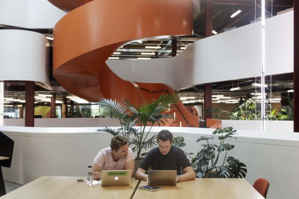 Colourful B:Hive office in Auckland voted best in world