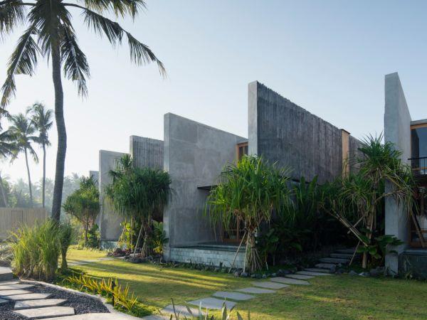 Stunning concrete-built resort on Bali