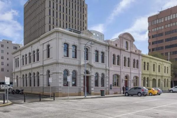 Potential buyers catch first flight in to view historic Hobart buildings