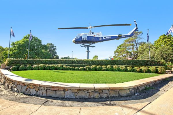 Prominent site with its iconic navy helicopter on a pole is for sale