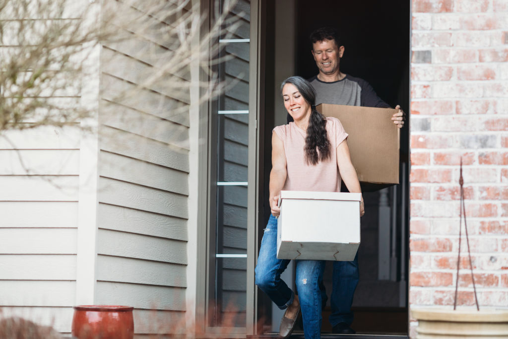 Couple moving out of their home