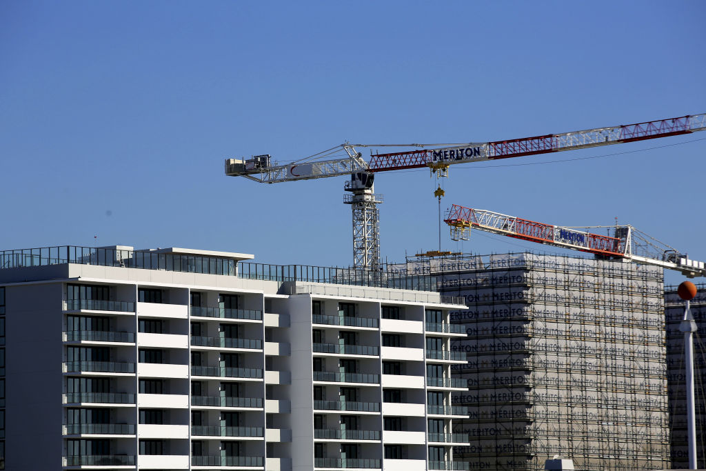 High density apartments under construction in Mascot, Sydney.