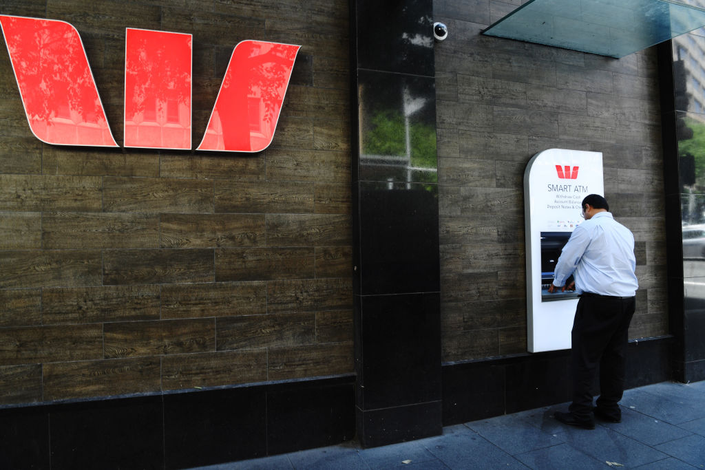 Man using a Westpac ATM Generic