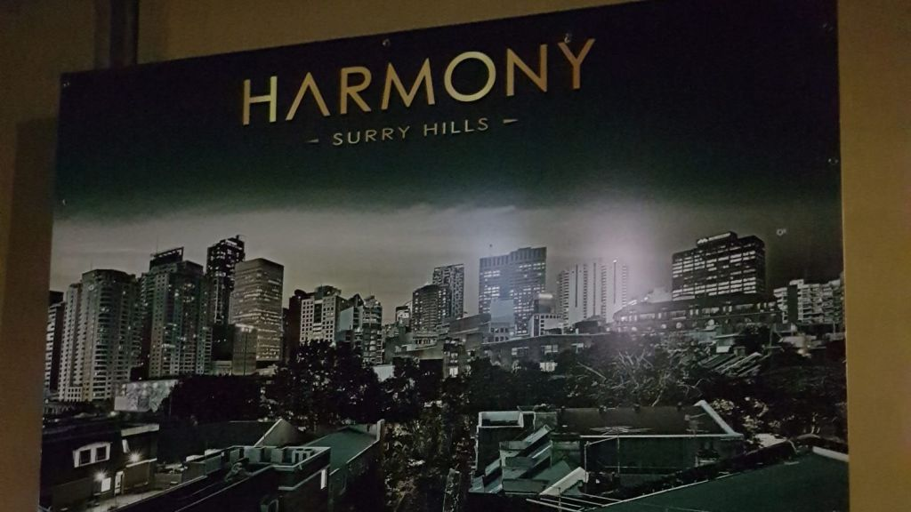 Photo of the Harmony development advertisement.