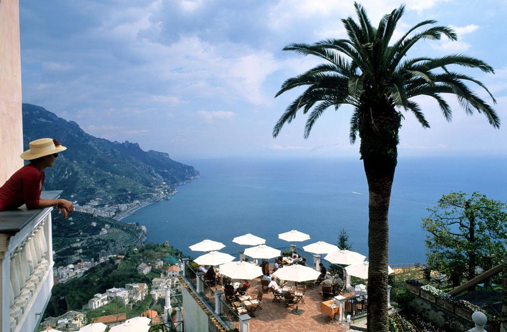 Italy, Campany, amalfitan coast, village of Ravello, Palazzo Sasso, hotel of charm. Picture AFP