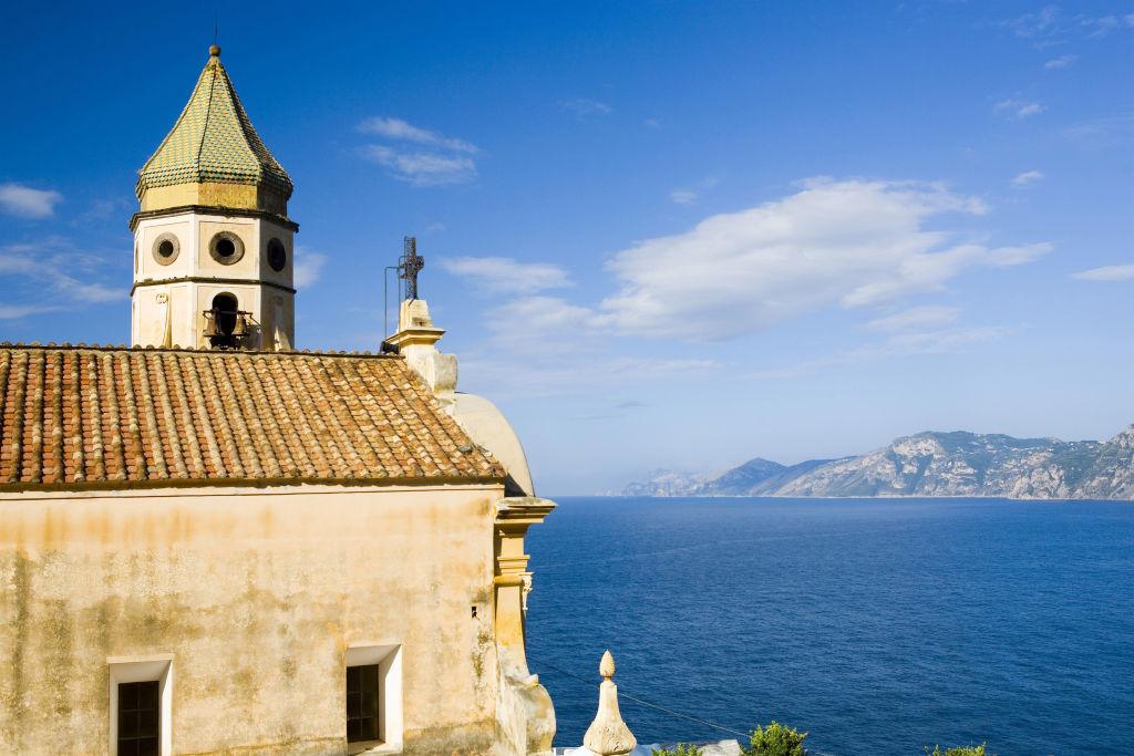 Praiano, Amalfitan coast. Photograph by AFP.