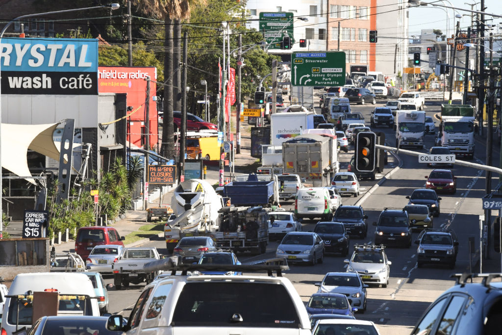 Traffic on Parramatta Road