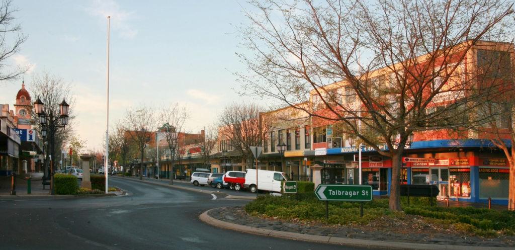 The main street in Dubbo.