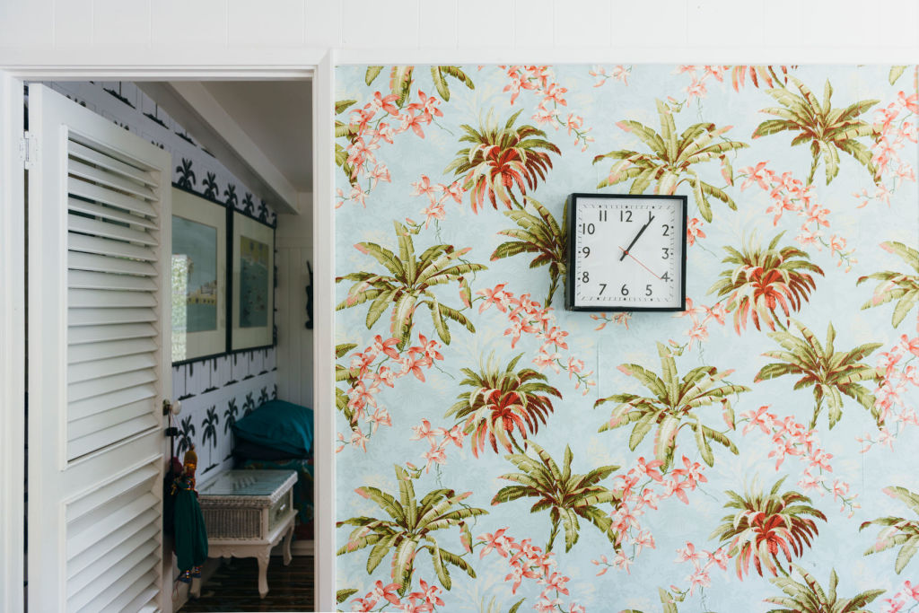 Don't overdo it with the bold wallpaper.