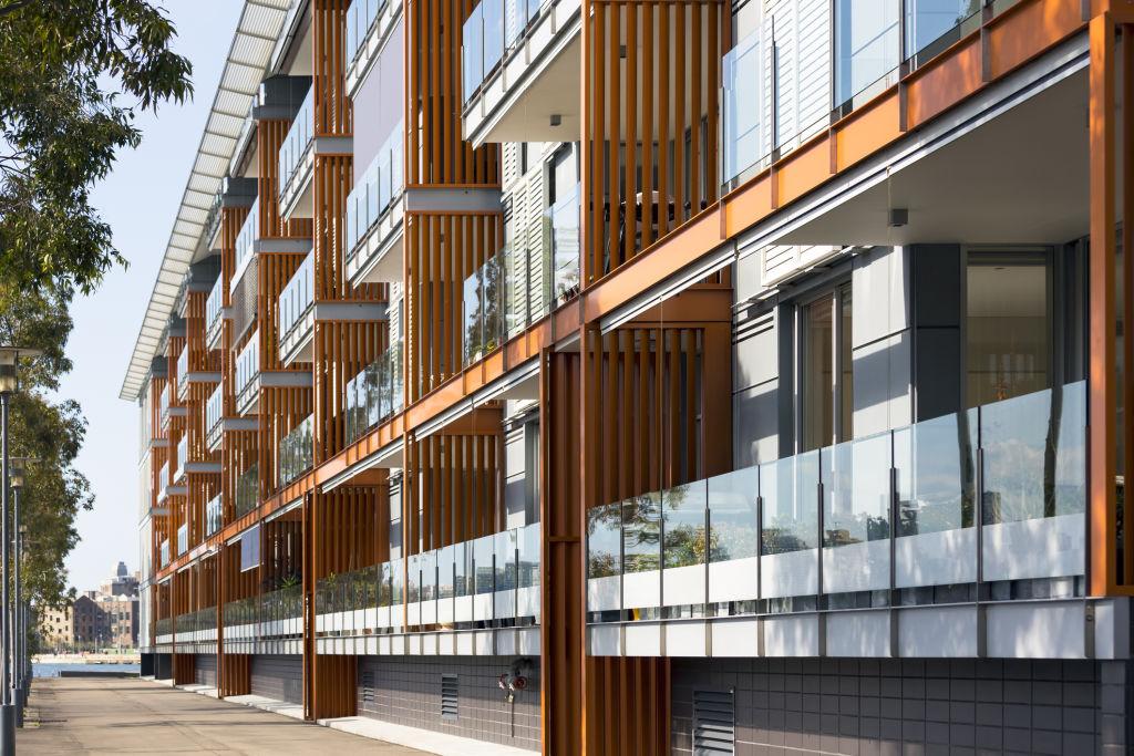 Exterior of modern apartment building Sydney