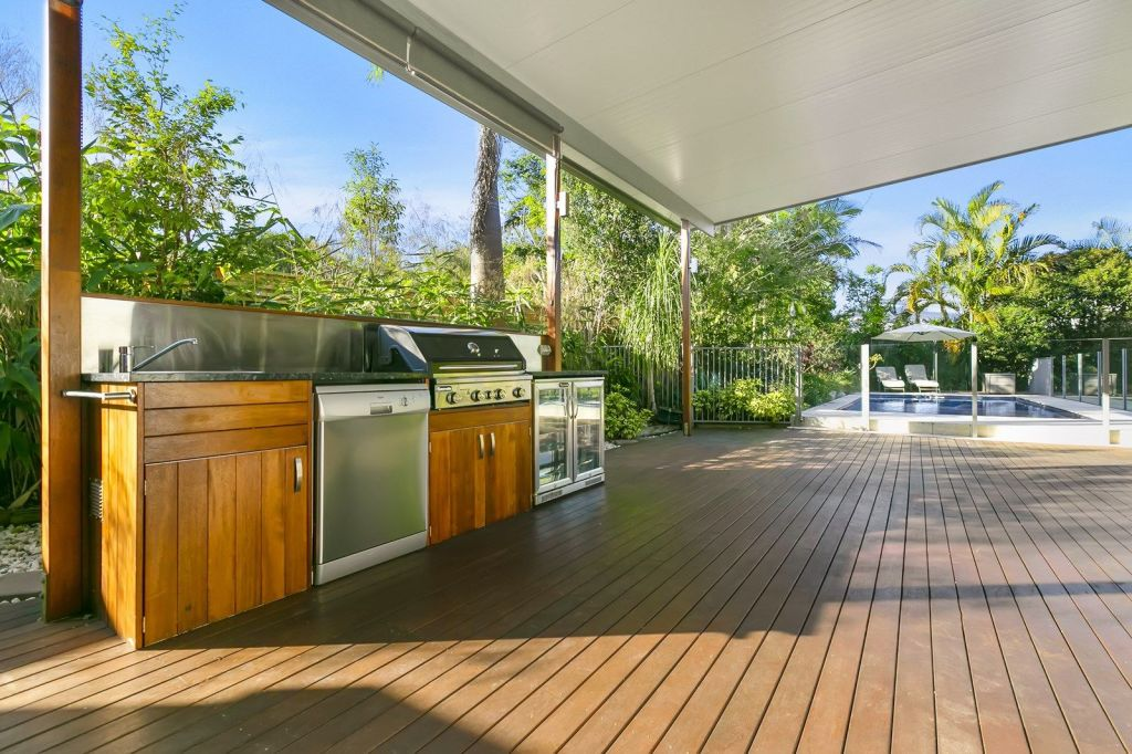 Consider the position of a barbecue, furniture and lighting in your decking design.