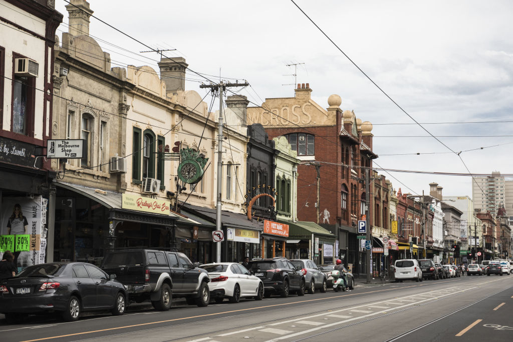 Brunswick Street, Fitzroy. Photo: Bec Dickinson.
