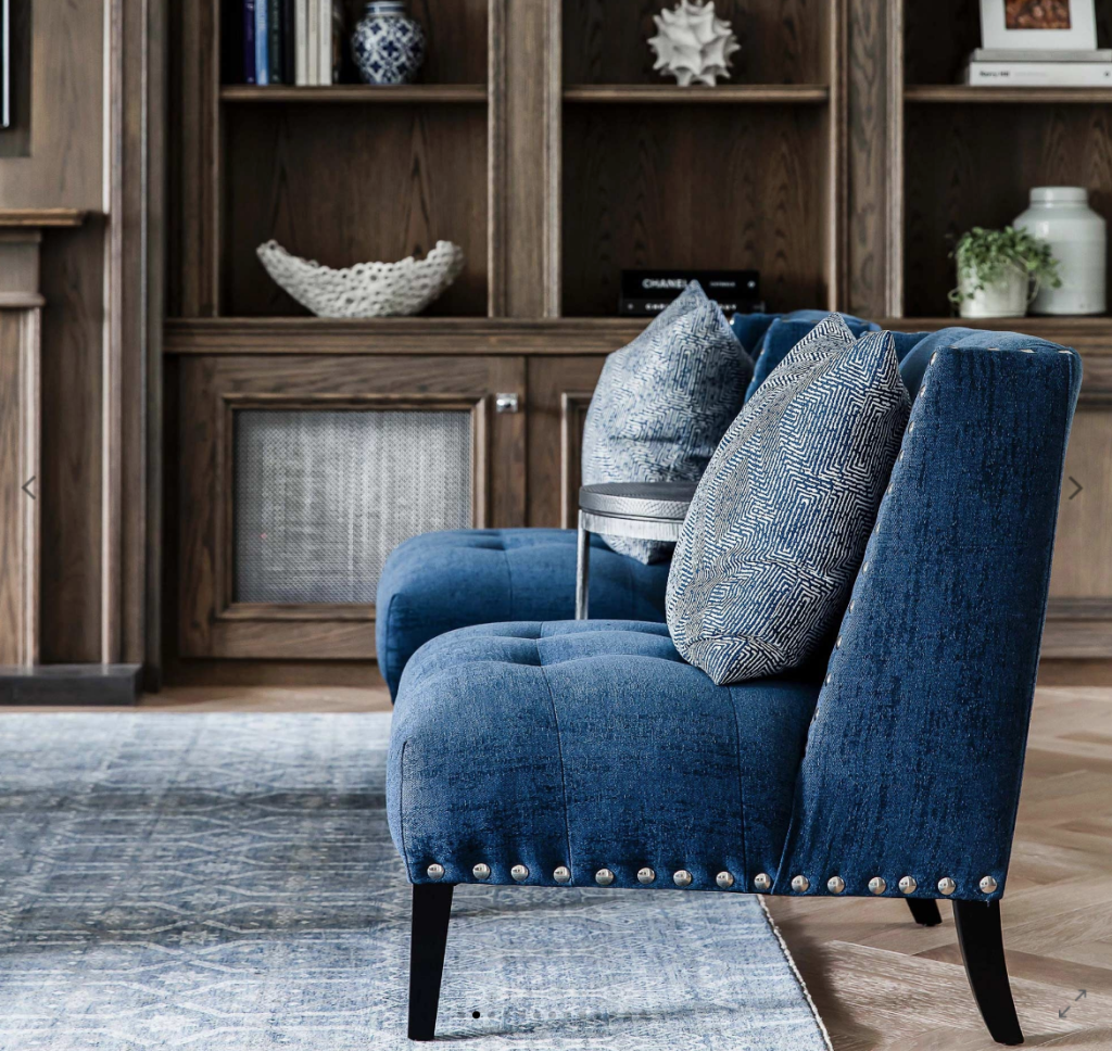 Furniture is becoming more minimal, with a focus on high-quality fabrics. Photo: Coco Republic