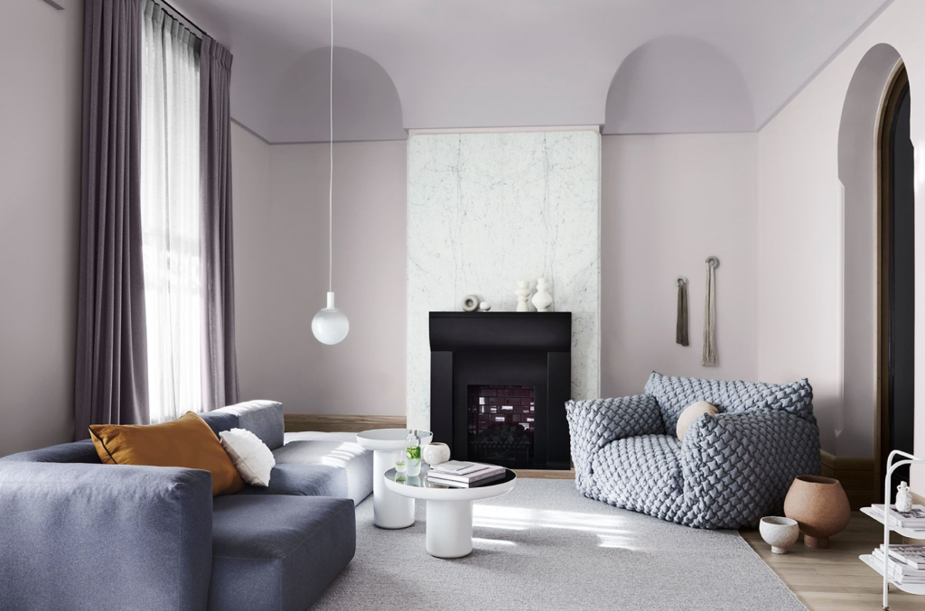 Dulux's Wholeself colour palette will help you wind down. Styled by Bree Leech. Photo: Lisa Cohen