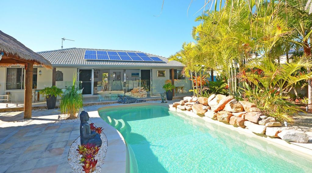 Solar panels can help offset the cost of running a pool pump.