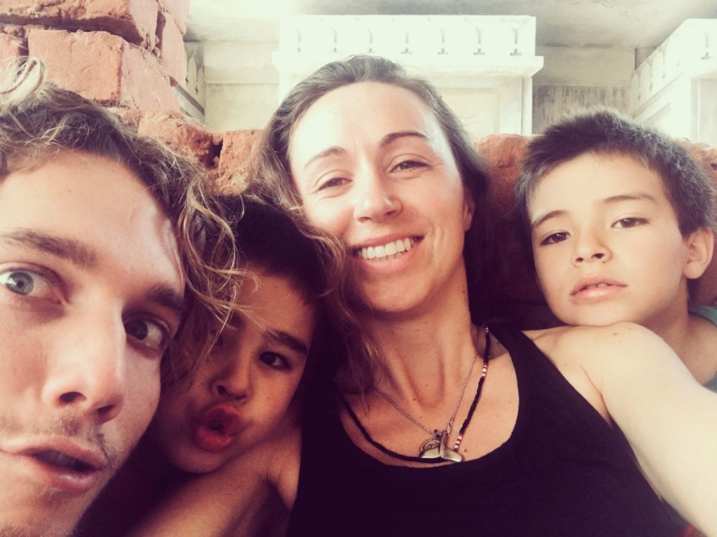 Angie and kids