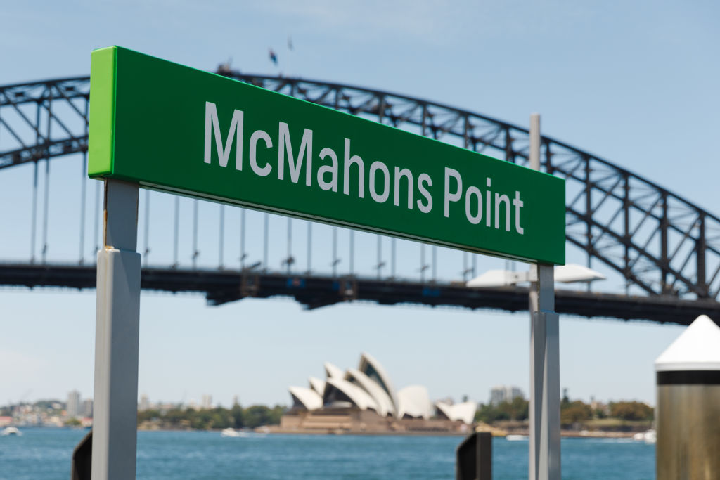 The Sydney suburb of McMahons Point