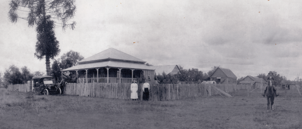 The old Willowbrook farm homestead in North Maclean, Queensland. Image taken by an unknown descendant of the original owners.