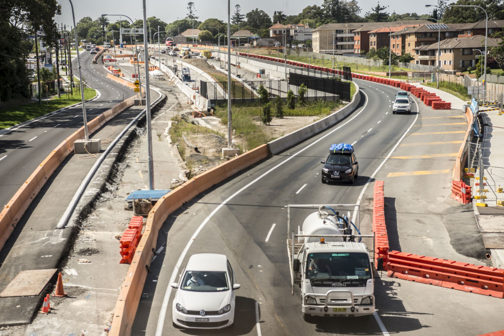 West Connex.Pictured is Parramatta Road Haberfield looking East showing  tunnel and roads.2nd January 2019Photo: Steven Siewert