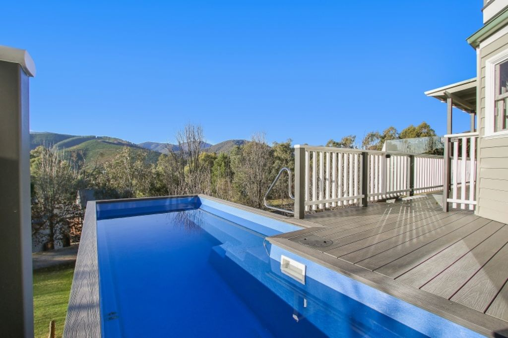 The versatile shipping container is diving into the world of backyard pools. Photo: Shipping Container Pools
