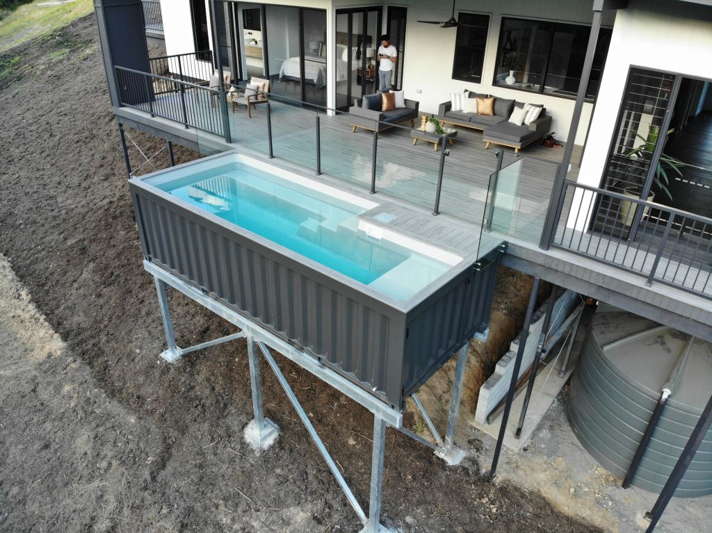 The modifiable nature of shipping containers is becoming more important to environmentally-conscious consumers. Photo: Shipping Container Pools