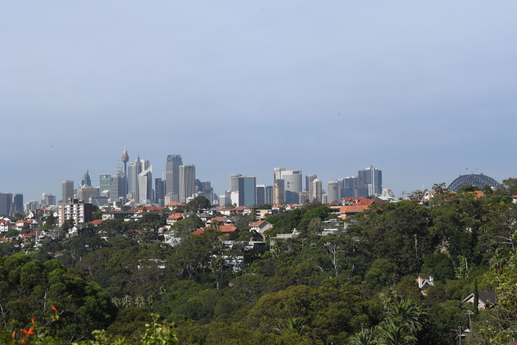 Generic pic. Sydney City, skyline, taken from Mosman. Photo by Peter Braig. 16 February 2018.