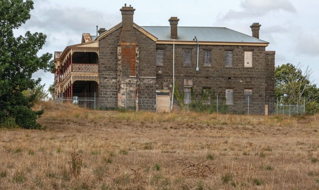 Historic Victorian gold rush-era hospital in Kyneton looking
