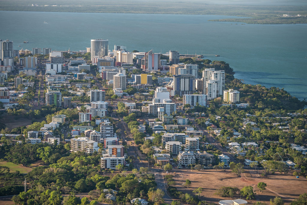 An aerial view of Darwin NT