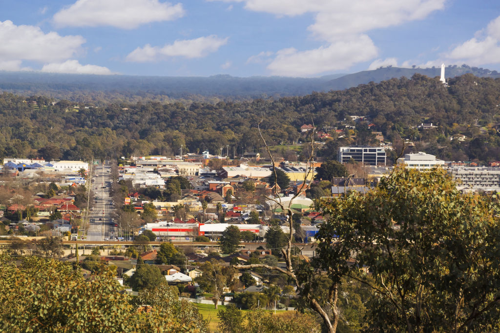 The regional city of Albury in NSW