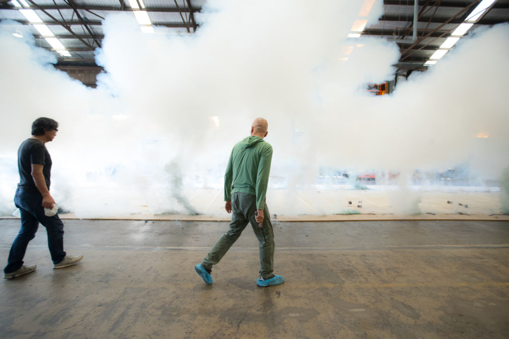 Chinese artist Cai Guo-Qiang creates a new artwork for the NGV using explosives to 'paint'