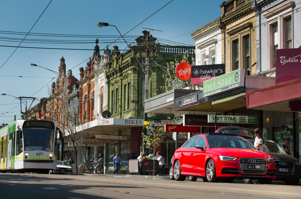 Glenferrie Road in Hawthorn VIC