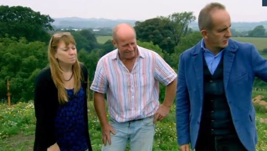 Rose and Kevin McCabe and Grand Designs UK host Kevin McCloud.