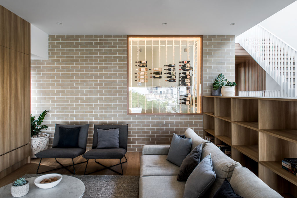 The use of bricks is a standout feature of the project.