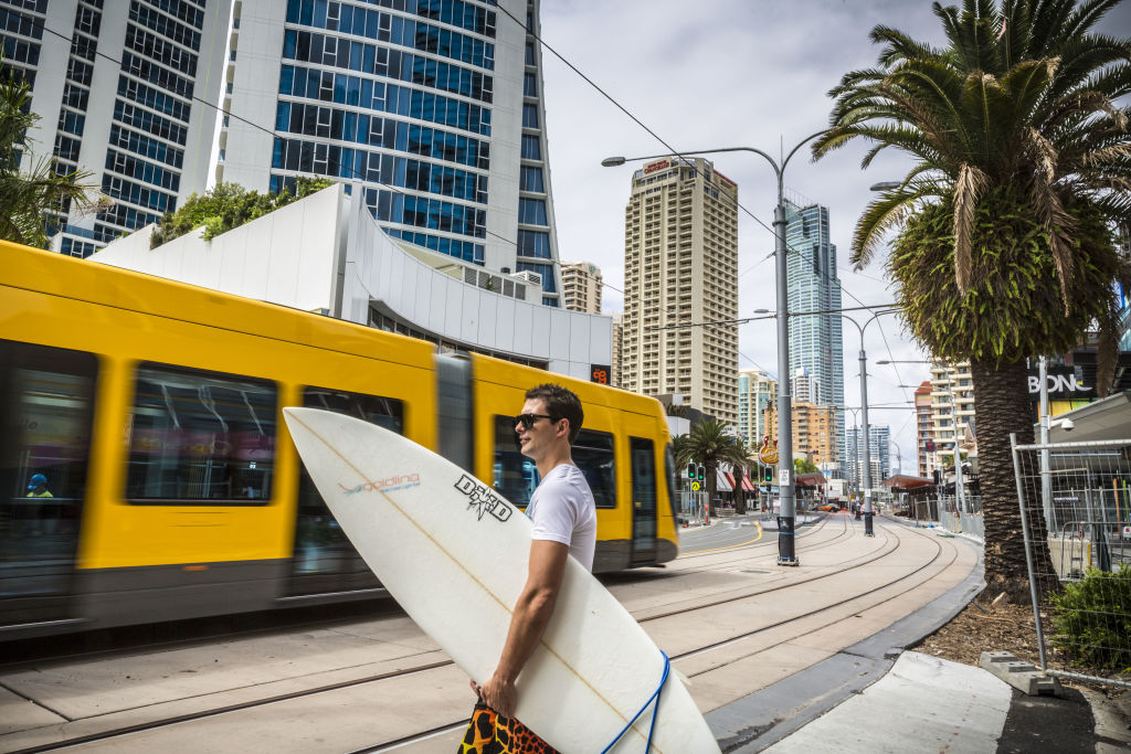 Tourists and locals alike have embraced the Gold Coast's light rail network.
