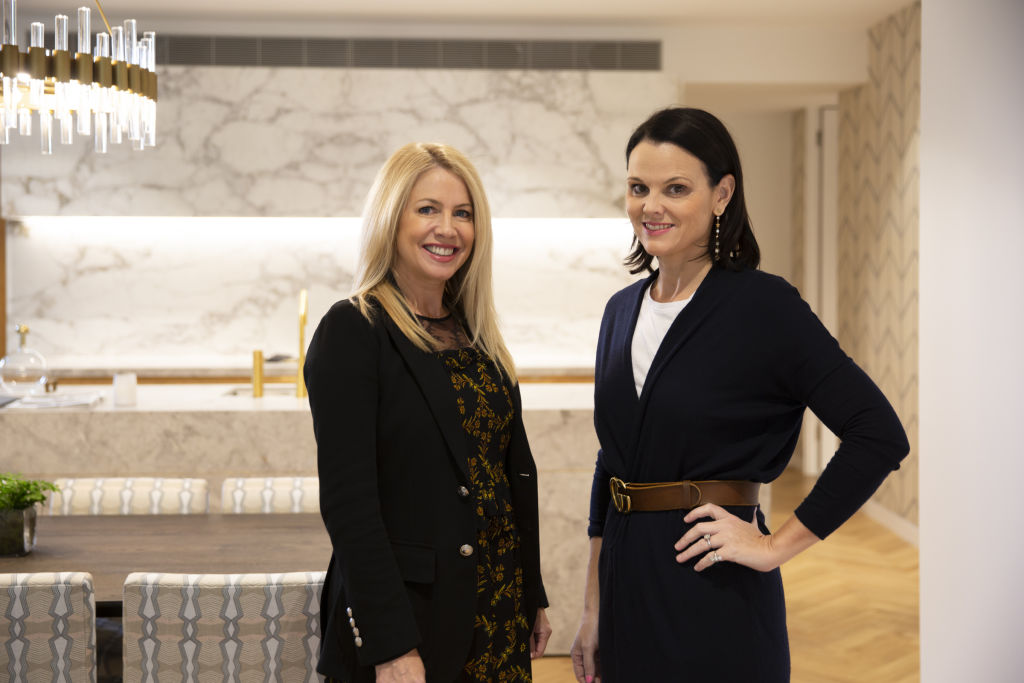 Agent Sarah Hackett and interior designer Anna Spiro.