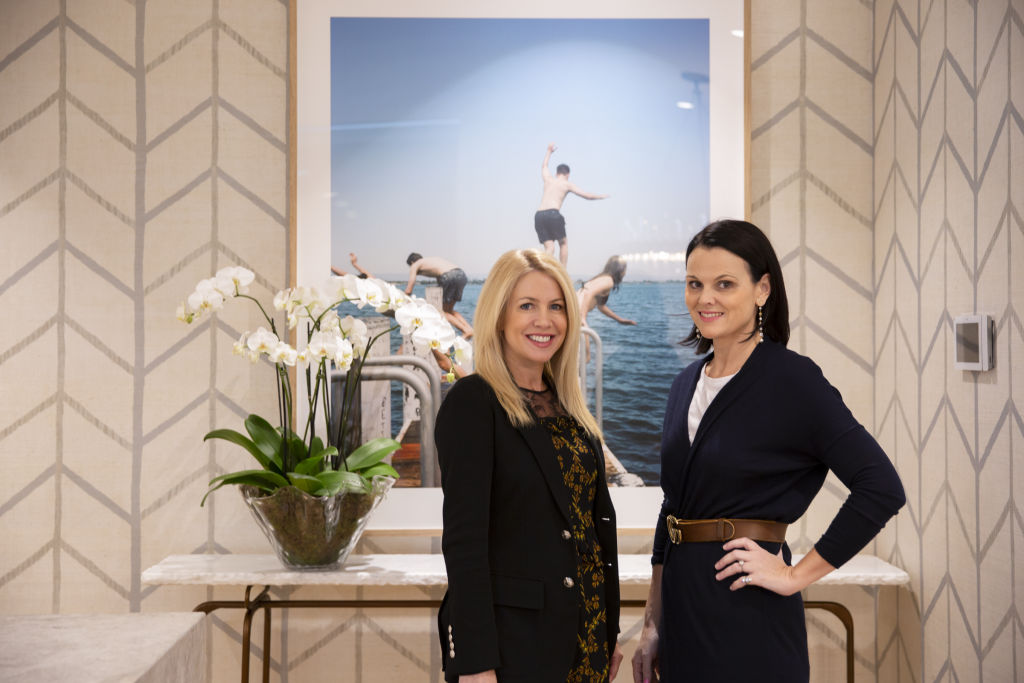 Domain Real Estate Agent Sarah Hackett and interior designer Anna Spiro.