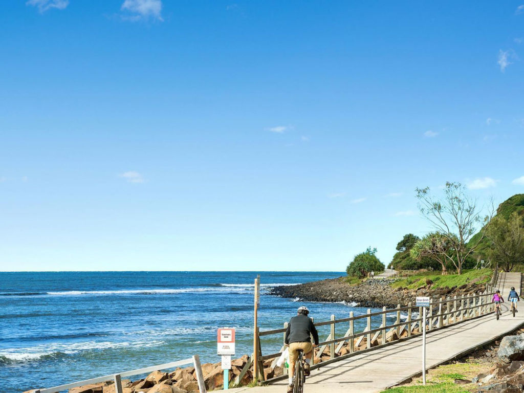 A bike path running through Lennox Head in the Northern Rivers region LOW RES