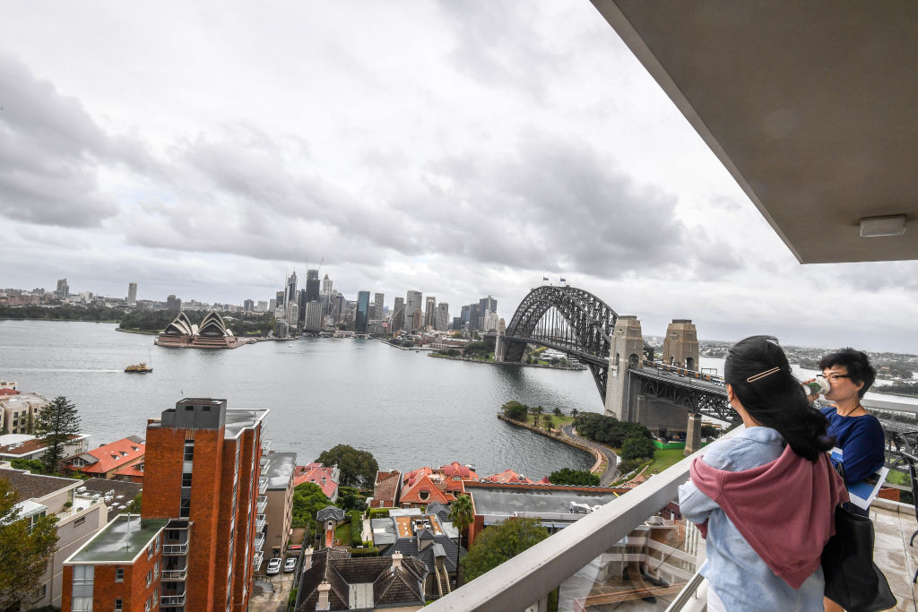 A view of the Harbour Bridge from a Kirribilli apartment.
