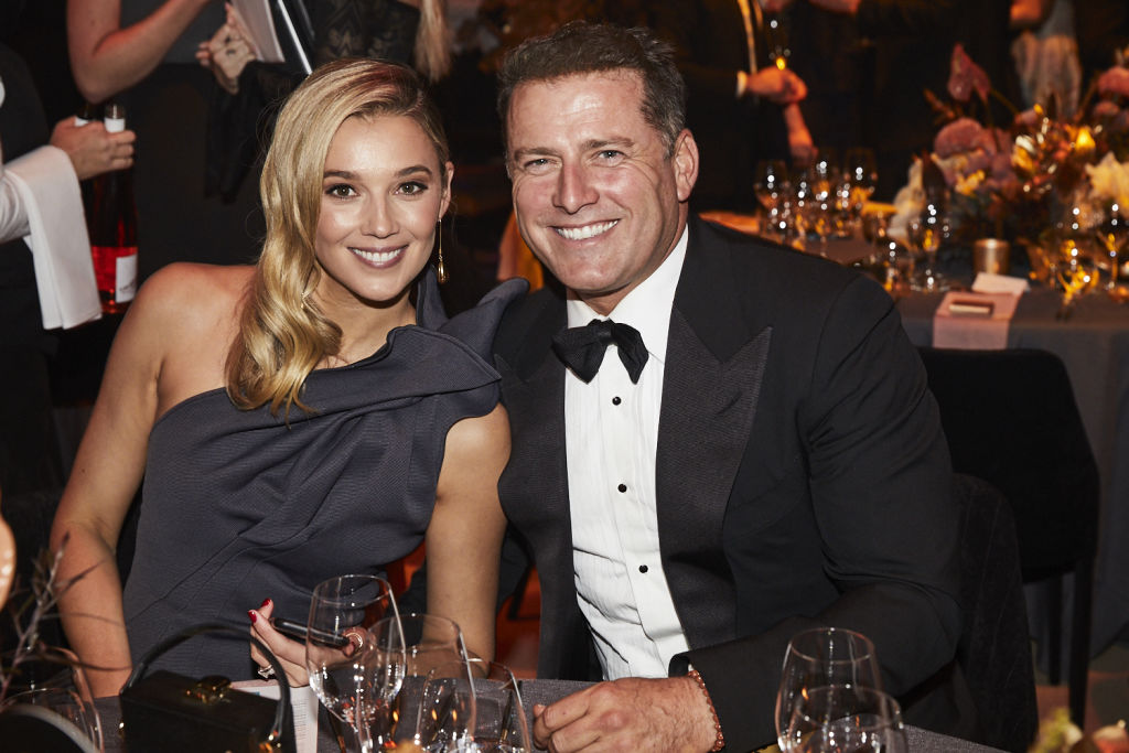 Karl Stefanovic and his wife Jasmine in A supplied image from The Annual Gold Dinner held for the Children's Hospitals Foundation which was held at Fox Studios on Thursday, May 30, 2019.