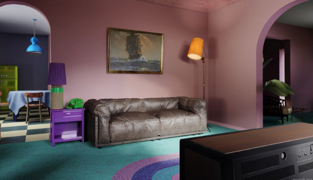 What the lounge room would look if it were real.