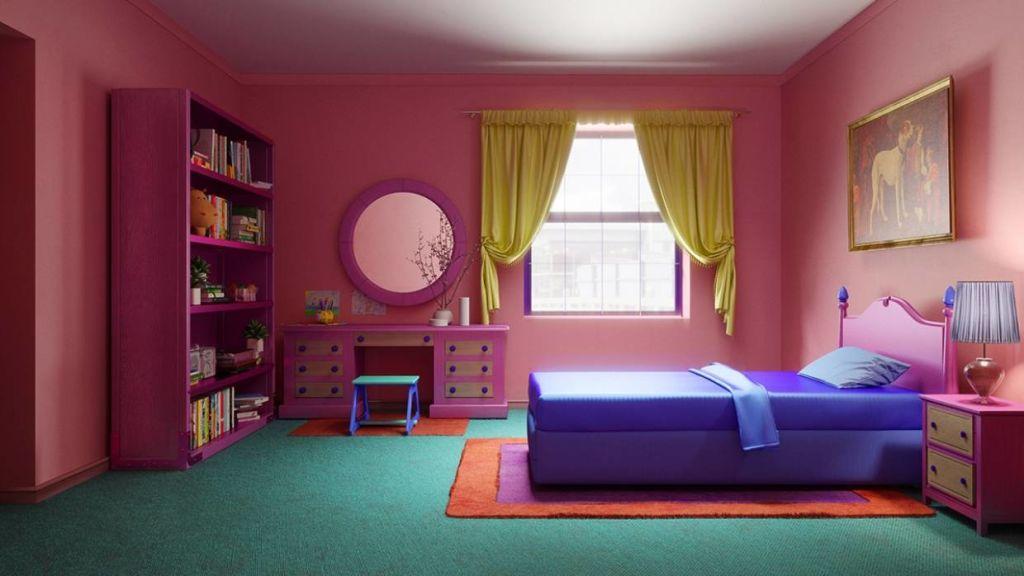 A mock of Lisa Simpson's bedroom.