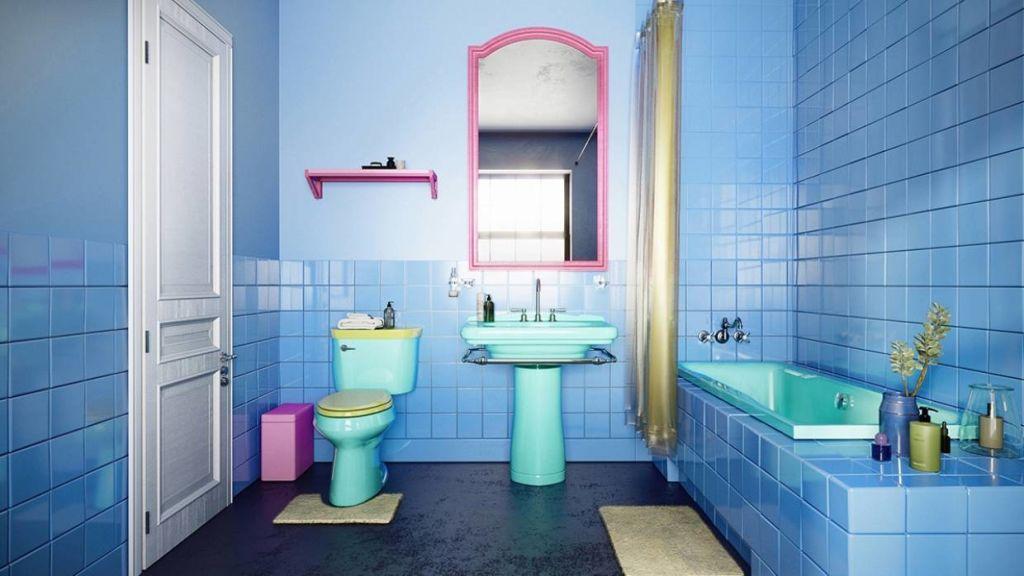 A mock of the bathroom.