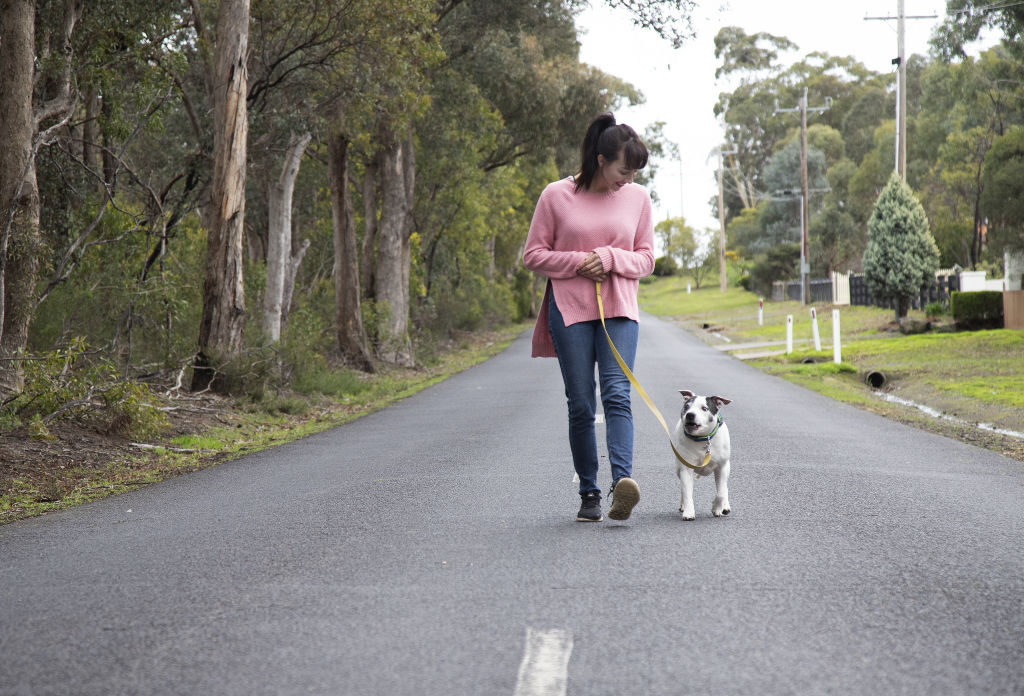 Dog therapist Laura Vissaritis