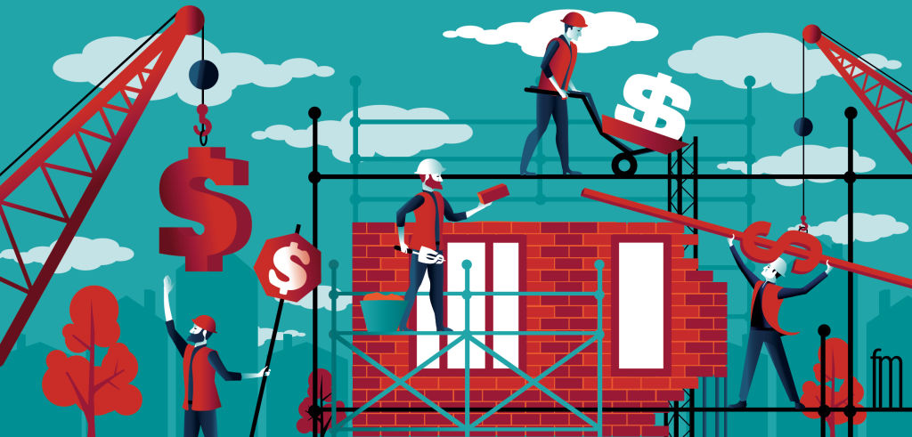 Funding a new home illustration by Frank Maiorana NOT FOR REUSE