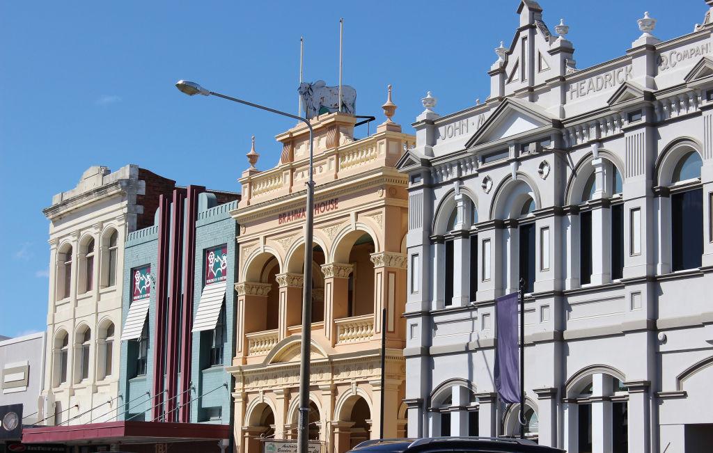 Streetscape in Rockhampton QLD